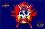 Pirate Hard Rider Large Flag - 5' x 3'.